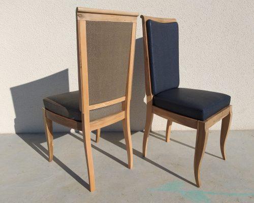 Chaises salle à manger Simili cuir skai restauration réfection SEDENTaire artisan Tapissier décorateur Aveyron Lozère Cantal Tarn