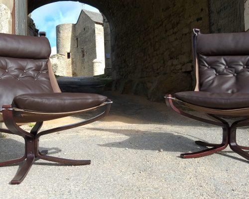 Fauteuil design contemporain Falcon cuir