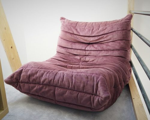 TOGO LIGNE ROSET habillage chauffeuse vintage SEDENTaire tapissier sellier AVEYRON LOZERE CANTAL